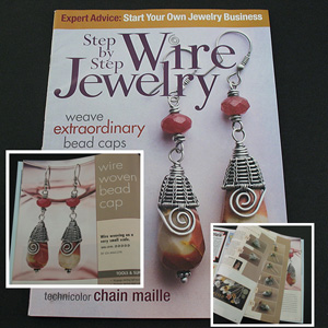 Tutorial / Cover of the Step By Step Wire Jewelry Magazine, Summer 2007.