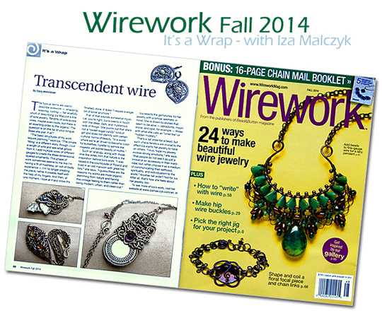 Bead&Button's Wirework magazine Iza Malczyk